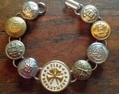 1900s Fire Dept. Button Bracelet
