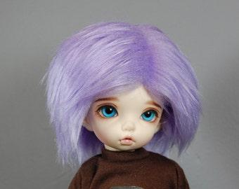 Size 6-7 Lavender Purple Faux (Fake) Fur Wig for LTF / Unoa / YoSD, 6/7