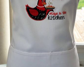 Apron  - What Happens in the Kitchen stays in the Kitchen