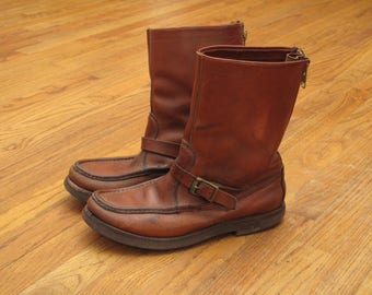 vintage Russell Moccasin Zephyr snake boots