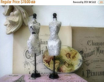 Minature Dress Forms Handmade Nordic French Cottage chic