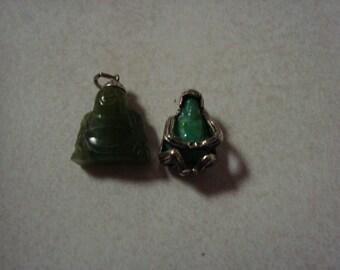 Two tiny Buddha charms