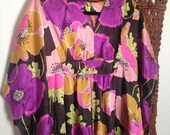 SALE Amazing Floral Silk Empire Kaftan OS