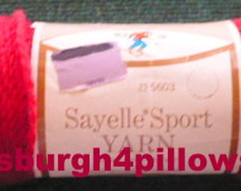 New Listing - Sears - Sayelle Sport Yarn - 2 Ozs - 2 Ply - 100% Orlon Acrylic - Color 52 - Yarn Is Darker Than Picture