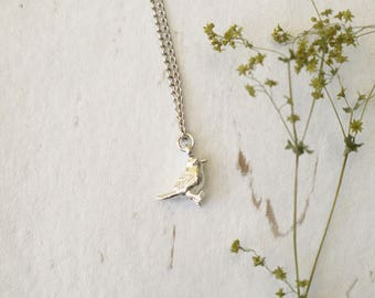 Tiny Silver Bird Necklace, Silver Plated Necklace, Charm Necklace, Woodland Jewellery, Minimalist Necklace, Bird Gifts, Gift For Her