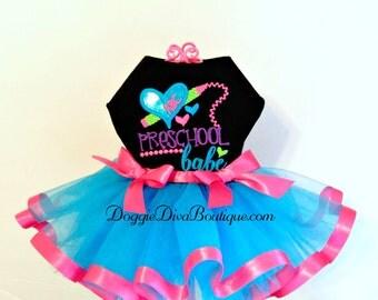 Dog Dress - Dog Tutu Dress - Preschool Babe - XS, Small or Medium