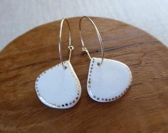 Kuri Chestnut Hoop Earrings