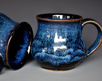 Blue Pottery Mug Ceramic Coffee Mug Stoneware Mug