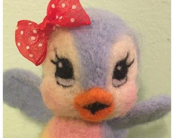 Birdbird of Happiness / Felted Soft Sculpture