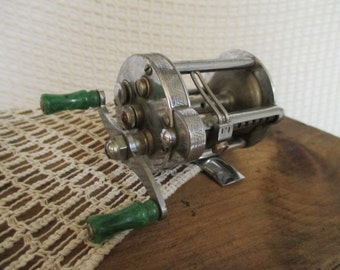 Vintage Pflueger Fishing Reel - 1944 Casting Reel - Country Cottage Rustic Decor - Fishing Collectible - Akron, Ohio