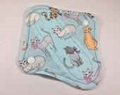 "Cloth Panty Liner 8"" Cats"