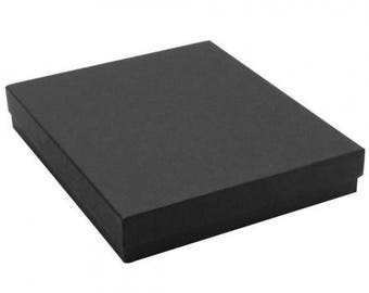 10 Pack Black Matte Jewelry Boxes