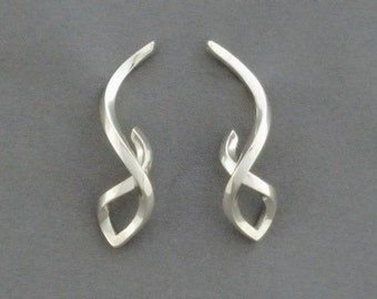 """Sterling Silver """"Twist"""" earrings"""