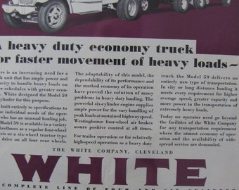 1930 White Company Truck Original Ad Over the Road Cleveland Freight Vehicles