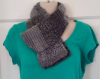 Scarf - Gray and Black