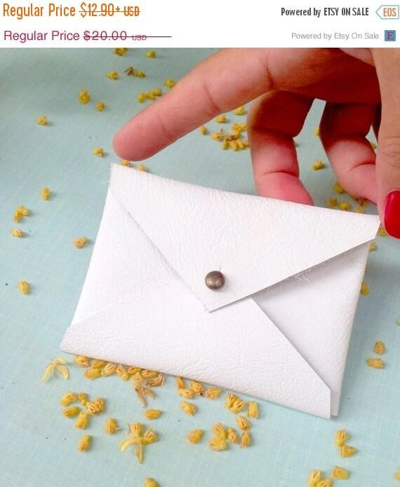 Envelope Wallet, White Gift Card Case, Gift card holder, Gift Card ...