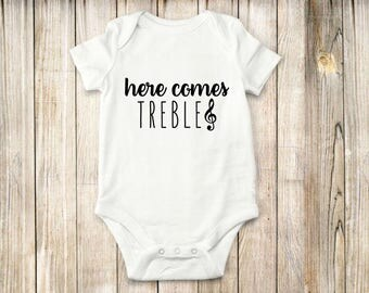 Music, Treble, Onesie, Bodysuit, shirt, baby, children clothing, children, funny
