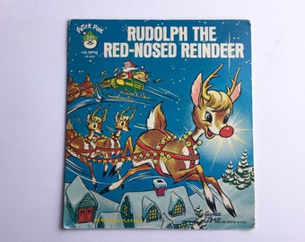 Vintage Peter Pan Record, Rudolph the Red-Nosed Reindeer, Children's Record, Children's Music, Christmas Music, Peter Pan Players