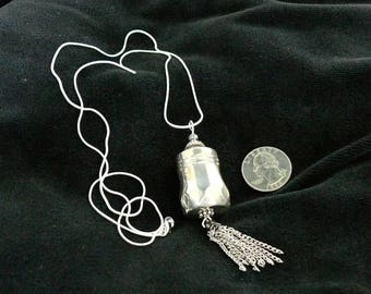 Sterling Silver Salt Shaker Necklace, Handmade, from Bluebird Creations, Item #2102
