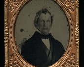 1/6 Ambrotype Photo of a Man - Free Shipping