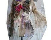 RESERVED  For N. Wonderful Velvet WHITE QUEEN With POISONOUs BERRIEs Fairy Velvet Flowers Spider Antoinette Boho Tatterd