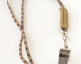 Coaches Handmade Paracord Camo Lanyard along with a Rawlings Whistle