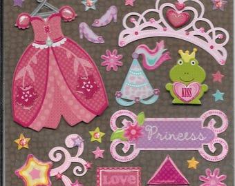 K & Company LLO  -- Princess --  NEW --  dimensional stickers  (#2232)