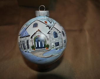 Custom Hand Painted Home Ornament done from picture... sold