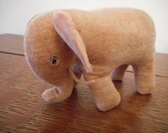 Steiff? Elephant Pincushion Vintage Cotton Velvet