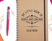 Personalised Hopes and Dreams Notebook|Notebook|A5 Notebook|Christmas Gift|Christmas Present|Stocking Filler
