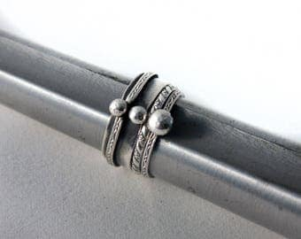 3 sterling silver stacking rings