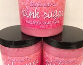 Pink Sugar | Sugar Scrub | Body Polish | 9oz | Exfoliating | Scrub | Moisturizing | Luxury | Butters | Renew | Natural | Regenerate | Pink