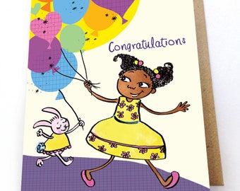 Congratulations Card, Well Done, Multicultural Greeting Card, New Baby, First Time Parents, 1st Time Parents, Pregnancy Congratulations card