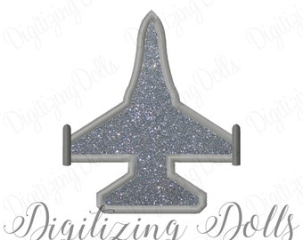 Jet Applique Machine Embroidery Design 3x3 4x4 5x7 6x10 8x8 f16 f 16 Airforce Air Force Military INSTANT DOWNLOAD