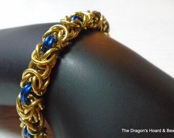 Byzantine Bracelet - Gold & Blue
