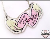 Hold Me With Your Yaoi Hands, Handmade, Original Fujoshi Necklace, Shonen-ai, Yaoi Necklace
