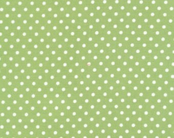 Tanya Whelan - Delilah Dots in Green - cotton quilting fabric - choose your cut