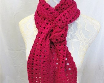 pure cashmere bright pink scarf