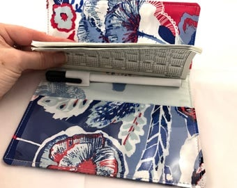 Blue Duplicate Checkbook Cover Register -  Duplicate Checkbook Reigster  Fabric Checkbook Cover -  Art Gallery In Blue Interplay in Eclectic