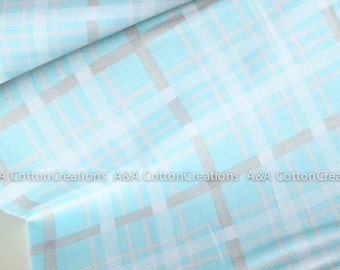 Quilting Cotton, Skies Plaid Blue Fabric, Baby Blue fabric, Apparel Fabric, Plaid Fabric, Boy fabric, Bedding Nursery Fabric
