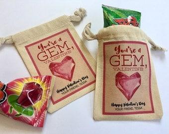 Kids Valentine, Valentine's Day Card, School Valentine, Class Valentine, Valentine Favor, Valentine's Kids, Ring Pop Valentine, You're A Gem