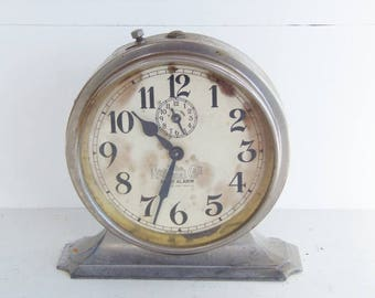 Vintage Alarm Clock, Old Working Clock, National Call Alarm Clock