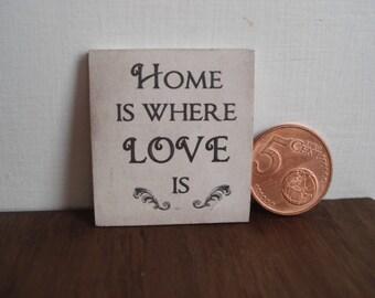 Miniature wooden sign