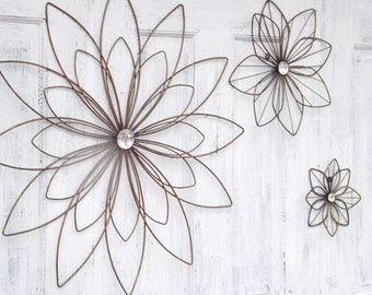 Metal Wall Flower metal flowers | etsy
