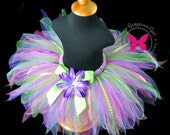 Fairy Tale Birthday Tutu with Ribbon Streamers, Flower and Headband