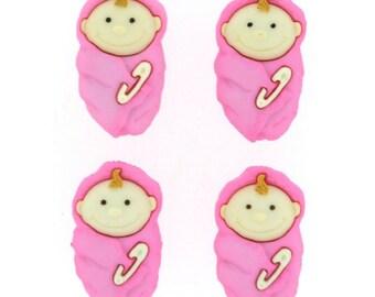 Baby Girls Plastic Buttons/ Sewing supplies / DIY craft supplies / Novelty Buttons / Party Supplies / Kids craft supplies