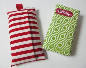 Tissue Case/White And Red Stripe