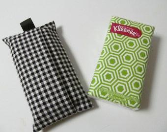 Tissue Case/Black Gingham Print