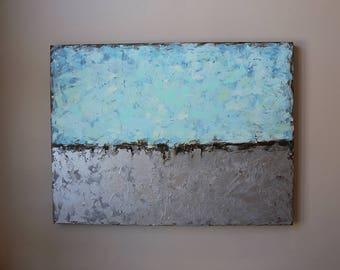 Acrylic painting, blue abstract ,Acrylic abstract painting, minimal, Abstract Painting Original Fine Art Acrylic, Artwork ,contemporary art