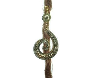 Swirly ethnic dreadlock bead